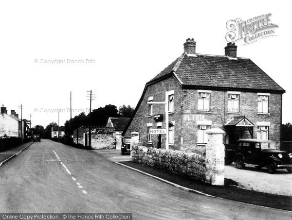 Bason Bridge, Inn and Main Road c1955