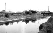 Bason Bridge, the Station and River Brue c1955
