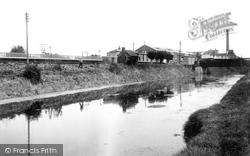Bason Bridge, The Station And River Brue c.1955