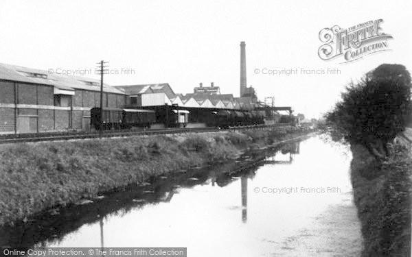 Photo of Bason Bridge, Wilts United Dairies And River Brue c.1955