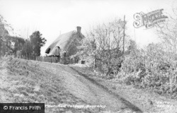 Bassaleg, Old Thatched Cottage c.1955