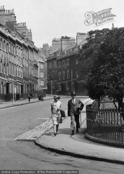 Bath, Couple In St James Square 1929