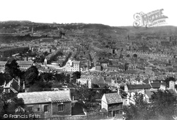 From Beechen Cliff (Abbey Right) 1876, Bath