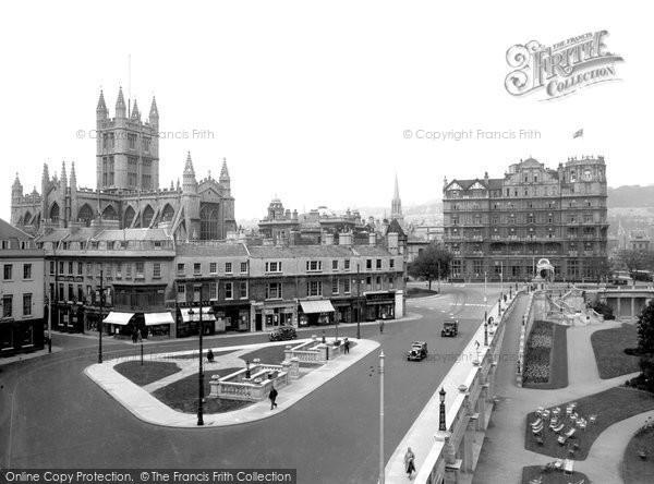 Bath, From Grosvenor Hotel 1935