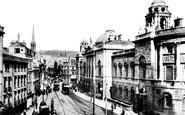 Bath, High Street And Municipal Building 1904