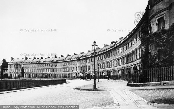 Bath, Lansdown Crescent 1896