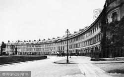 Bath, Lansdown Crescent 1896