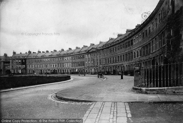 Bath, Lansdown Crescent 1907