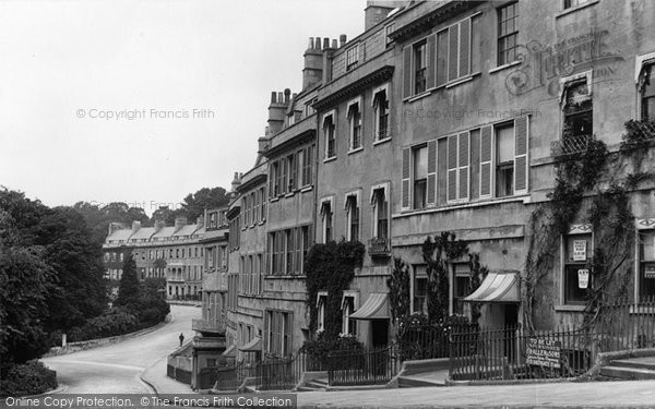 Bath, Lansdown Place West 1907