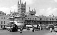 Bath, North Parade And Abbey 1949
