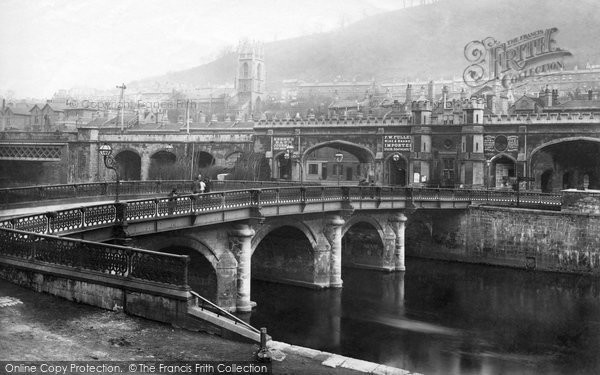 Bath, Old Bridge 1887