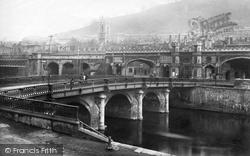 Bath, Old Bridge 1887