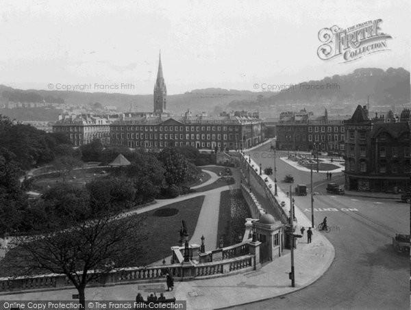 Bath, Parade Gardens From Empire Hotel 1935