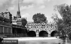 Bath, Pulteney Bridge 1935