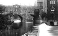 Bath, Pulteney Bridge And Weir 1914
