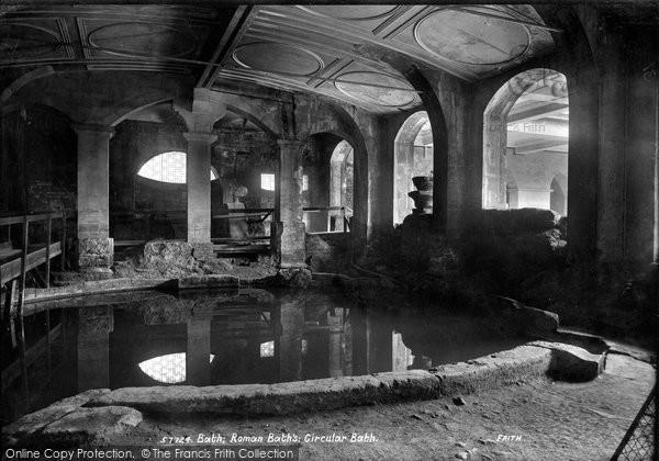 Bath, Roman Baths, Circular Bath 1907