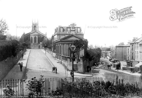 Bath, St Mark's Church and Claverton Street 1895