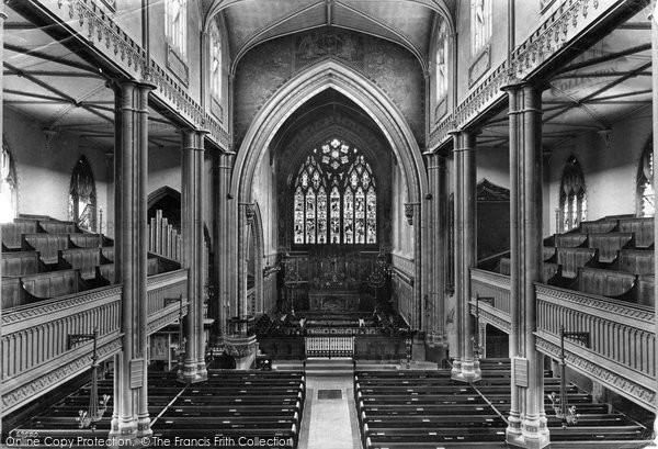 Bath, St Mary's Church Interior 1911