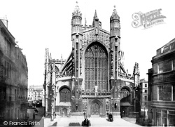 Bath, The Abbey, West Front 1887