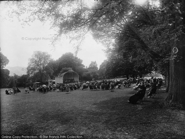 Bath, Victoria Park Bandstand 1925