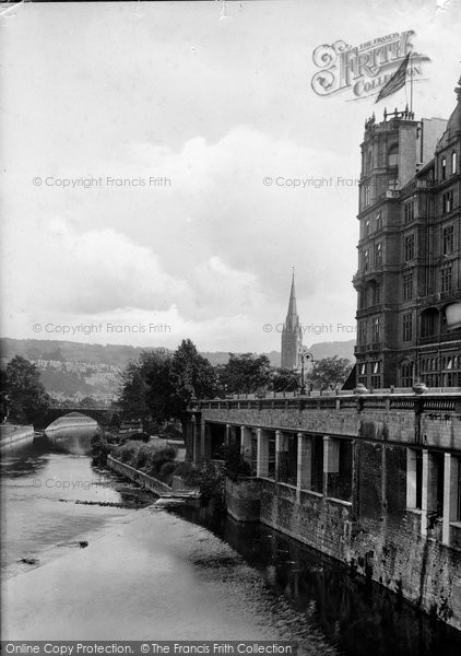 Bath, View From Pulteney Bridge 1914