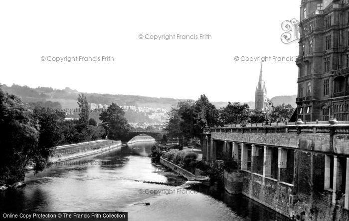 Bath, View From Pulteney Bridge 1914