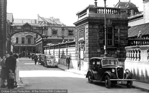 Bath, York Street and Roman Baths c1955