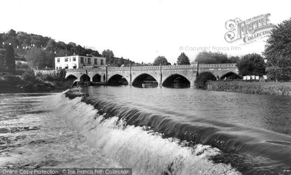 Bathampton, The Bridge And Weir c.1960