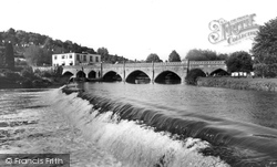 Bathampton, The Bridge And Weir c.1960