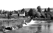 Bathampton, the Weir and Hotel c1960