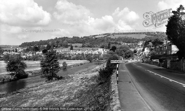 Batheaston, Main Road And River Avon c.1965