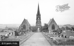 Batley, Cemetery And Tower c.1965
