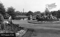 Batley, Flower Gardens, Wilton Park c.1955