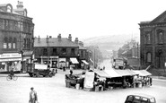 Batley, Market Place and Branch Road c1955