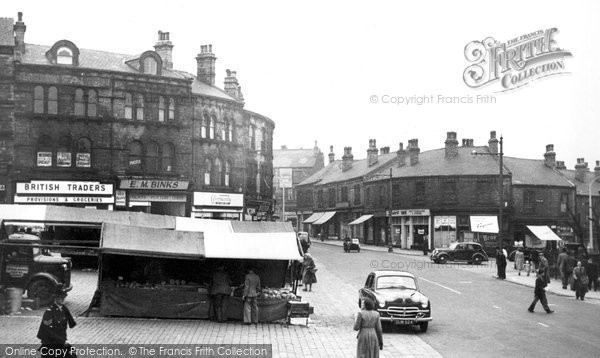 Batley, Market Place and Commercial Street c1955