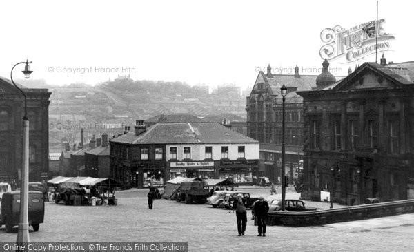 Batley, Market Place c.1955