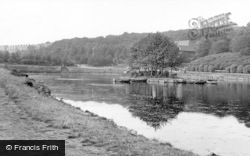 Batley, The Lake, Wilton Park c.1955