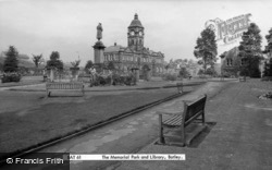 The Memorial Park And Library c.1965, Batley