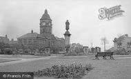 Batley, War Memorial And Library c.1955