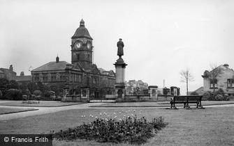Batley, War Memorial and Library c1955