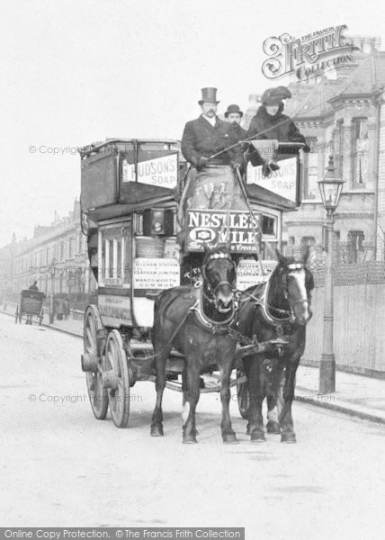 Photo of Battersea, Horse Bus c.1900