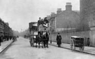 Battersea, Horse Bus In Montholme Road c.1900