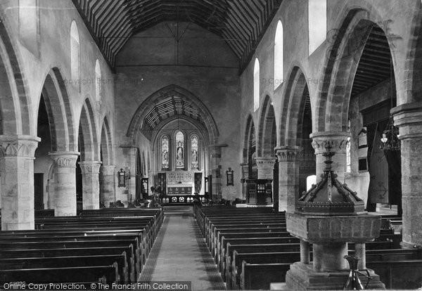Battle, St Mary The Virgin Church Interior 1910