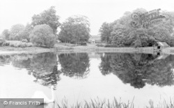 Bawtry, The Lake, Bawtry Hall c.1955