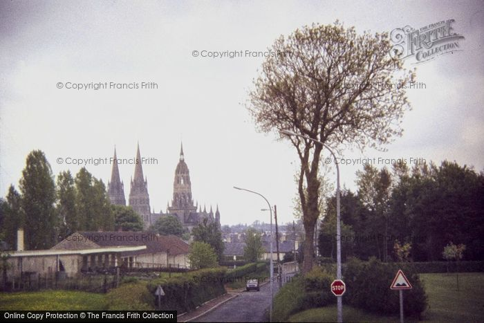 Photo of Bayeux, Cathedral From Normandy Memorial 1984
