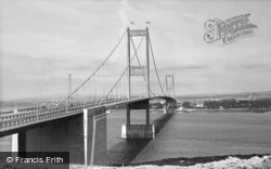 Beachley, the Severn Bridge c1966