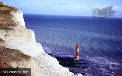 The Lighthouse From The Cliff 1978, Beachy Head