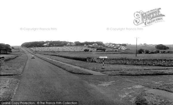 Photo of Beadnell, from Swinhoe Road c1955, ref. B550021