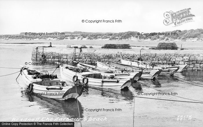 Photo of Beadnell, Harbour And Beach c.1955