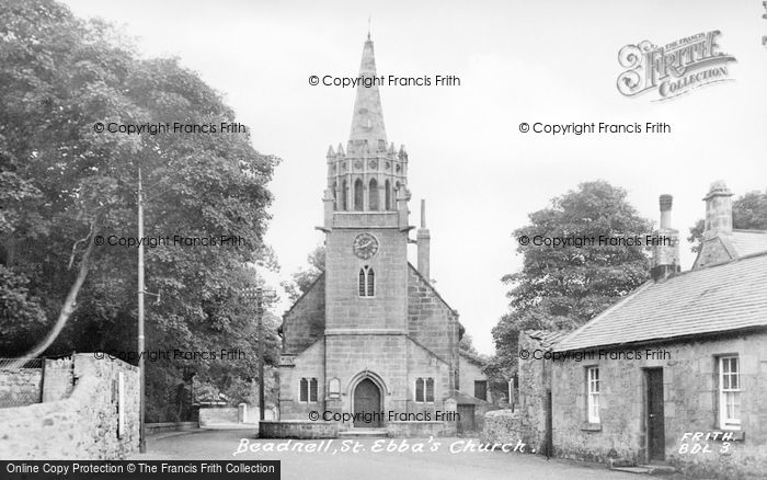 Photo of Beadnell, St Ebba's Church c.1955